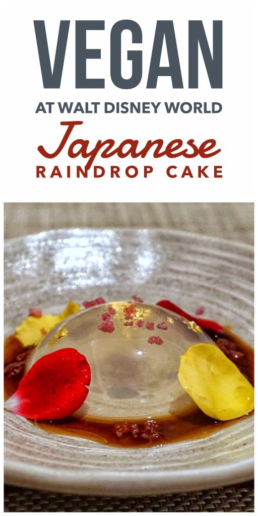 Vegan Walt Disney World - Japanese Raindrop Cake at Epcot's Takumi-Te