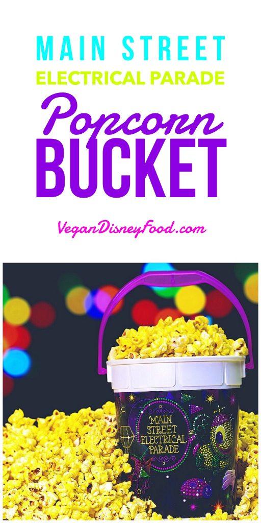 Vegan at Disneyland - Main Street Electrical Parade Popcorn Bucket