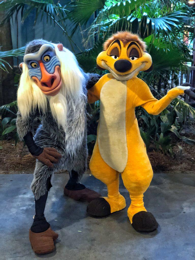 What's Vegan at Circle of Flavors: Harambe at Night in Animal Kingdom? - Timon and Rafiki