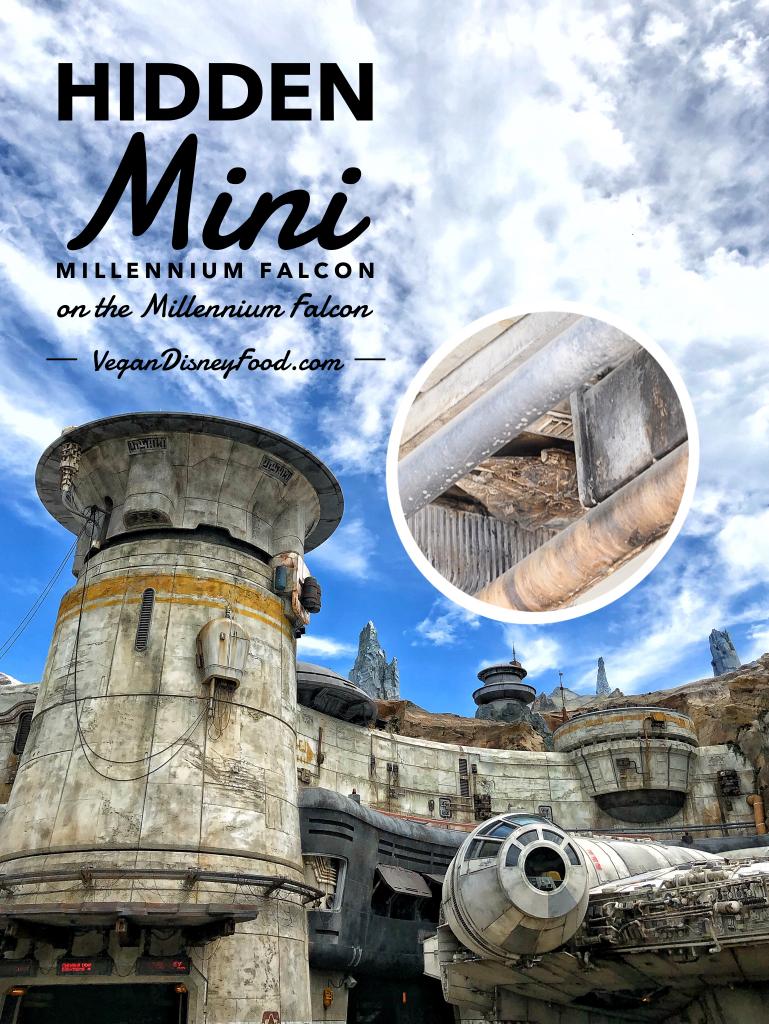 Hidden Mini Millennium Falcon on the Millennium Falcon in Star Wars Galaxy's Edge