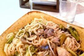 Vegetable Pasta in a White Wine Sauce at Disney's Trattoria al Forno