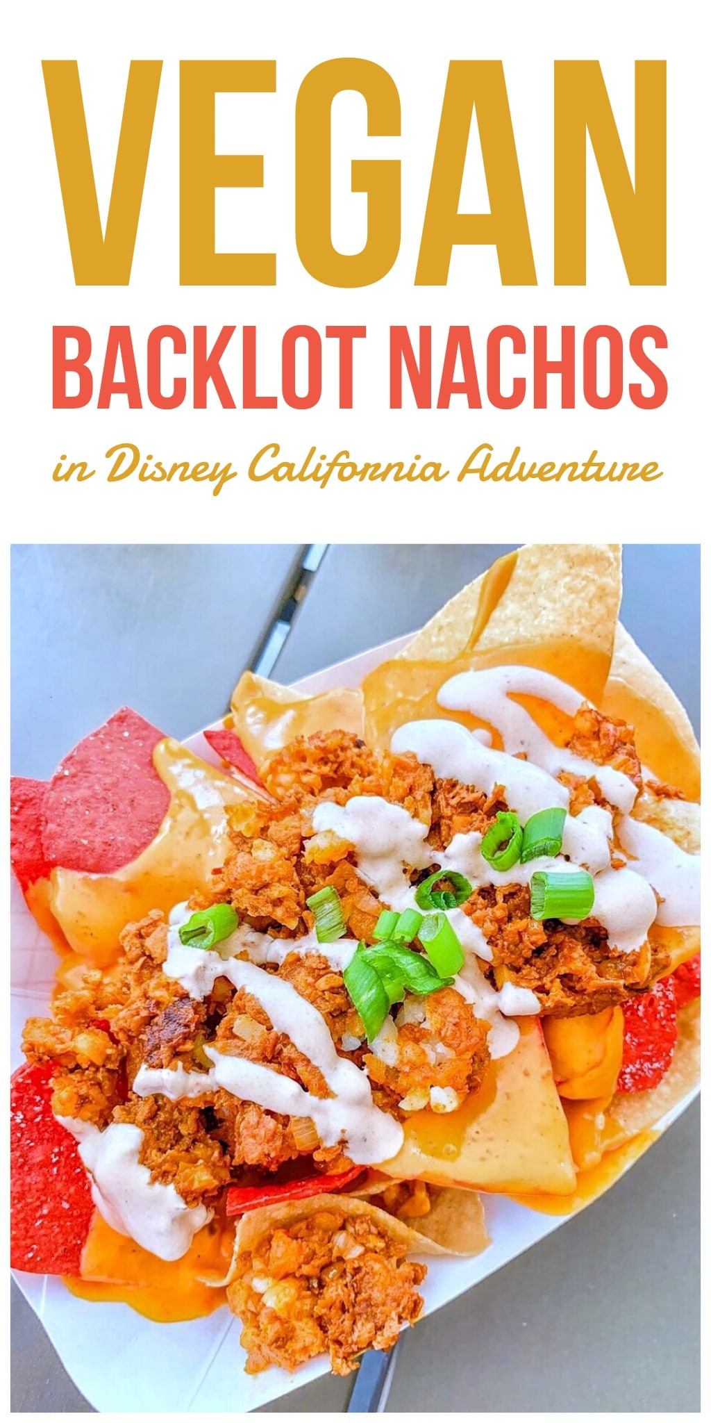 Vegan Backlot Nachos at Studio Catering Co in Disney California Adventure