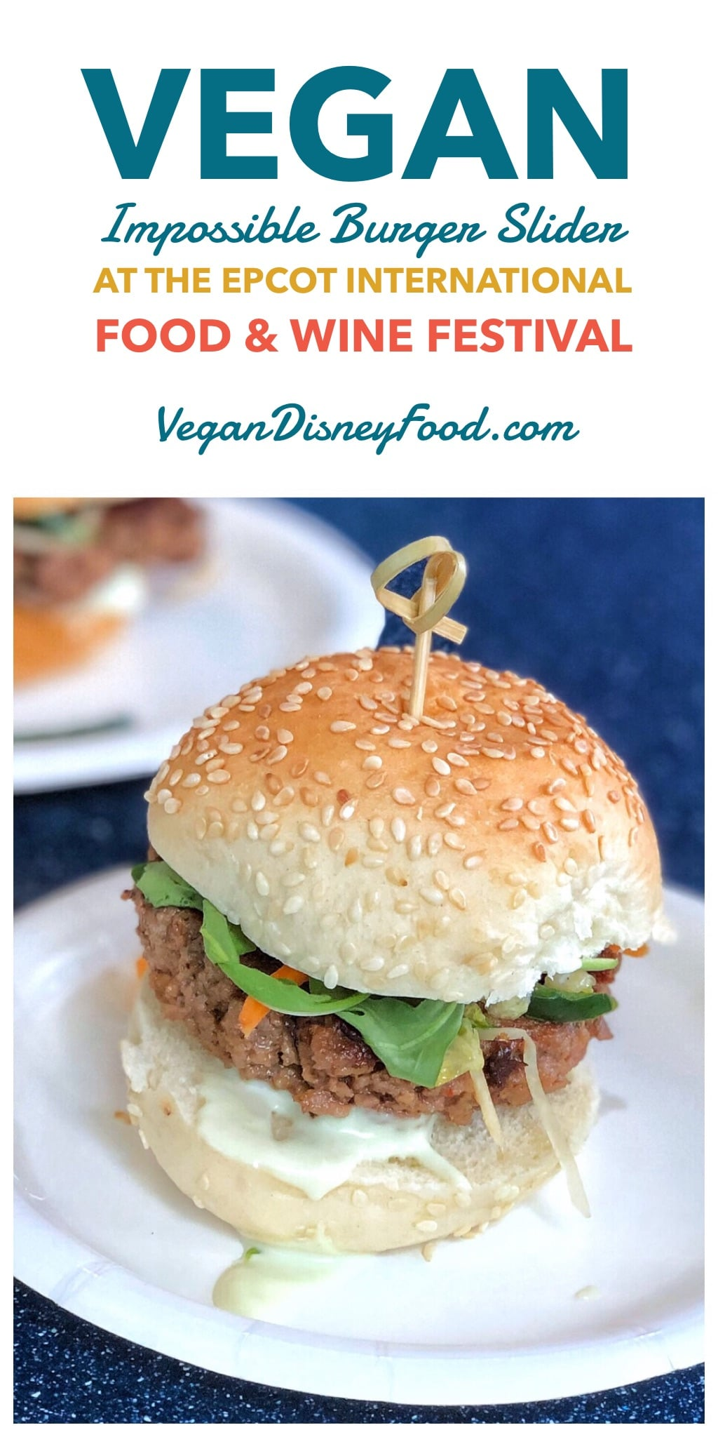 The Impossible Burger Slider at the 2019 Epcot International Food and Wine Festival at Walt Disney World