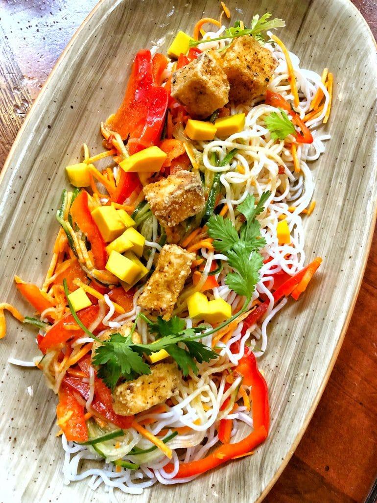 Vegan Tofu Noodle Salad at Kona Cafe in Disney's Polynesian Village Resort