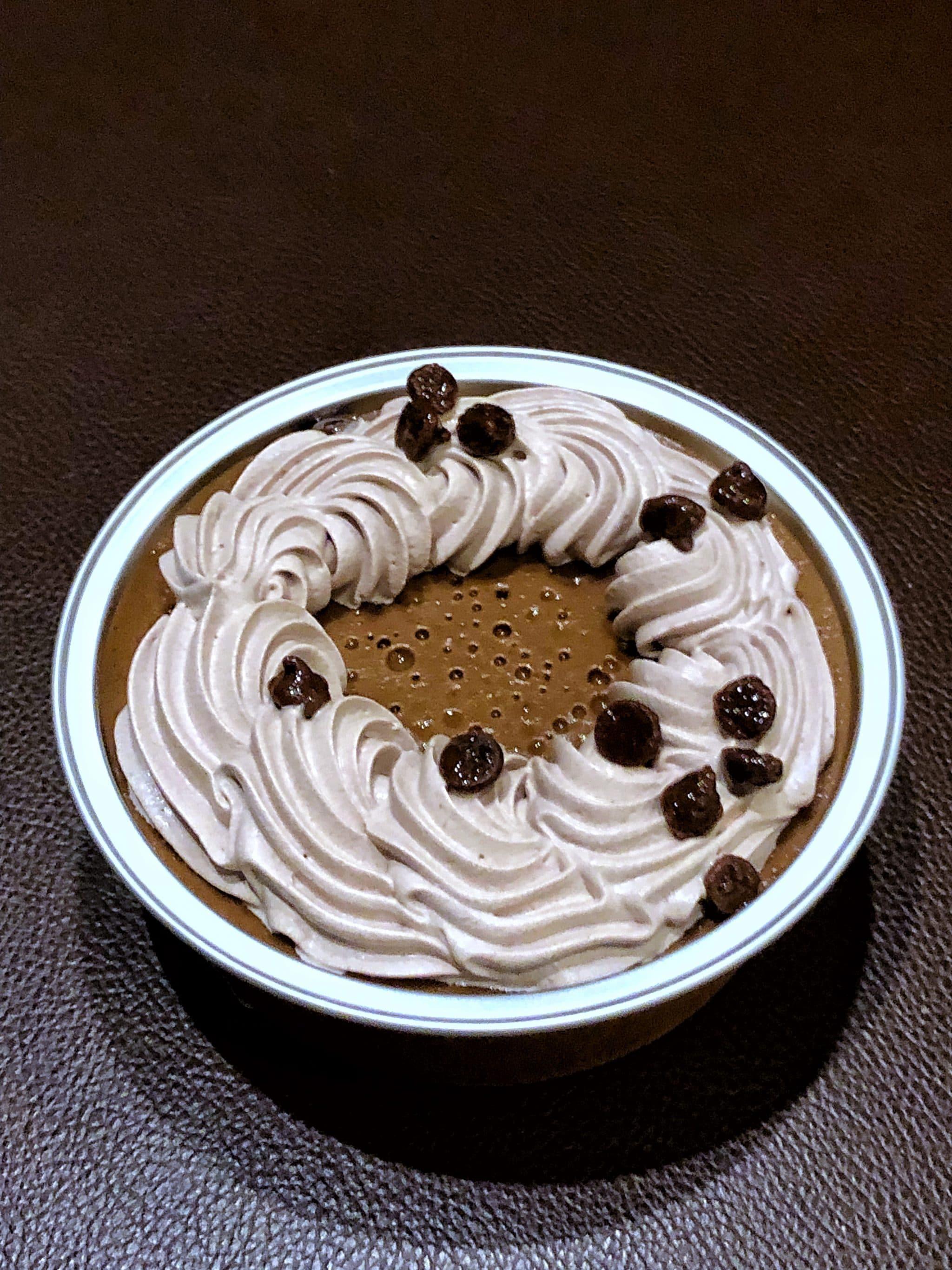 Vegan Chocolate Coconut Pot de Creme Dessert at Disney's Grand Floridian Resort