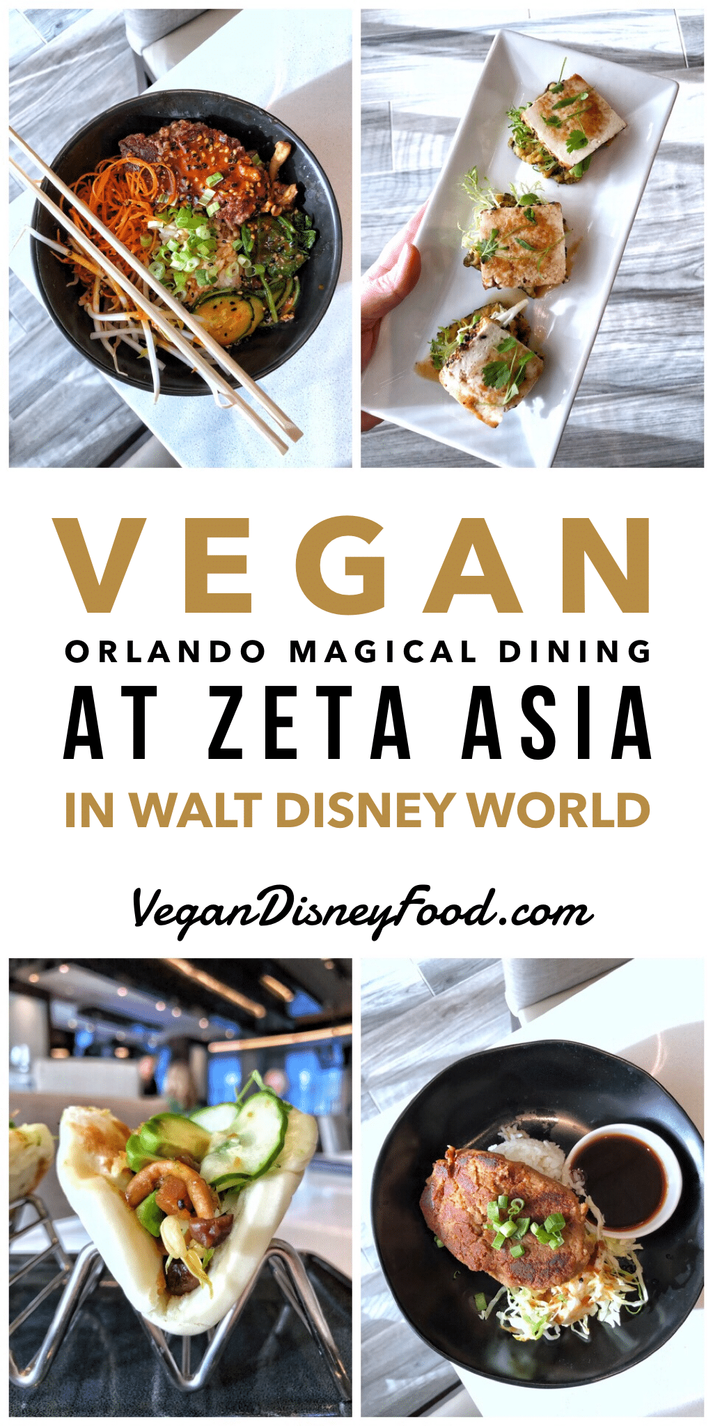 Vegan Orlando Magical Dining Review at Zeta Asia in the Hilton Bonnet Creek at Walt Disney World