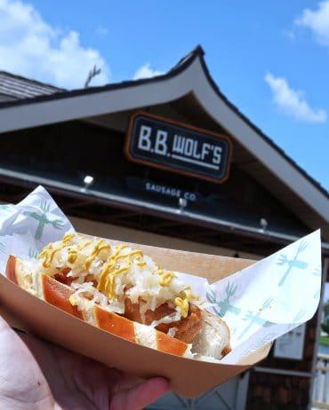Vegan Bratwurst Sausage at B.B. Wolf's Sausage Co. in Disney Springs