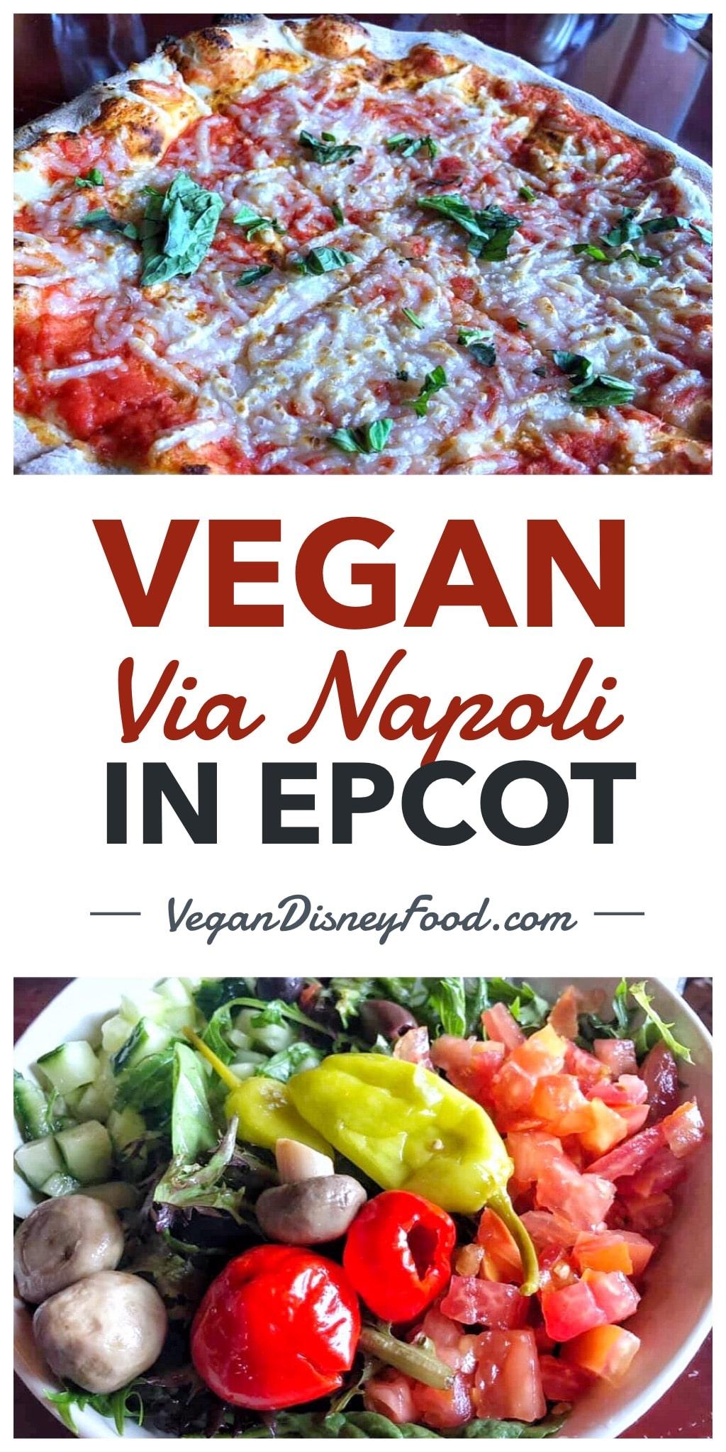 Vegan Margherita Pizza at Via Napoli in the Italy Pavilion at Epcot in Walt Disney World