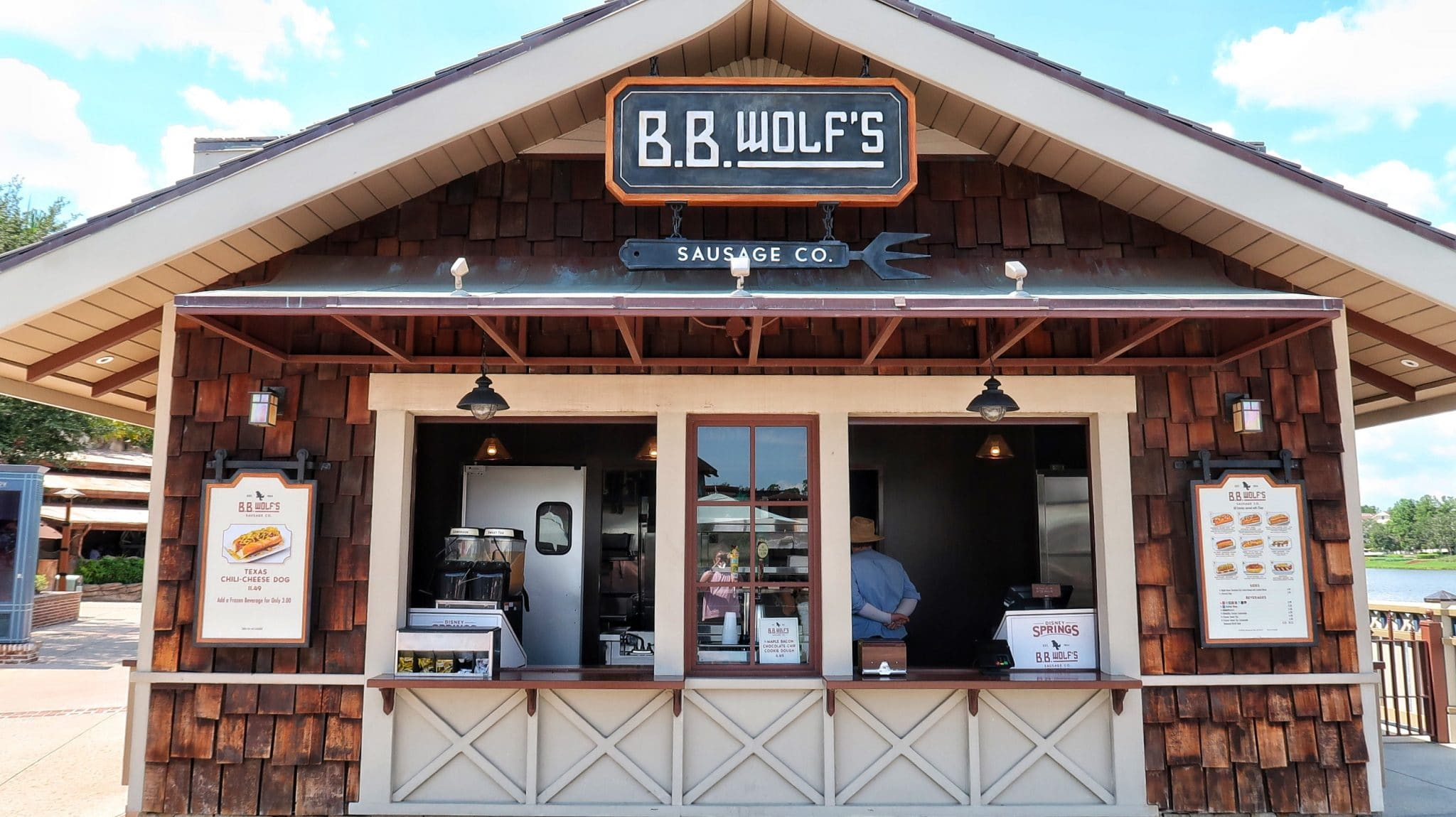 Vegan Bratwurst Sausage at B.B. Wolf's Sausage Co. in Disney Springs at Walt Disney World