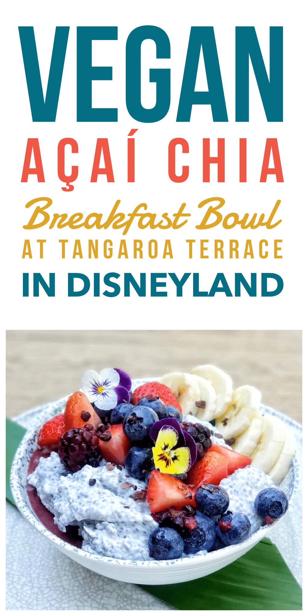 Vegan Acai Chia Breakfast Bowl at Tangaroa Terrace in Disneyland Hotel