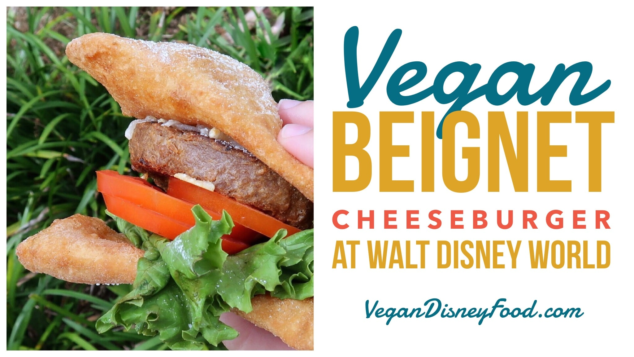 Vegan Beignet Cheeseburger at Port Orleans Resort French Quarter in Walt Disney World