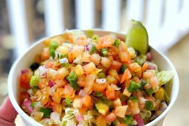 Vegan Crispy Yuca Vegetable Bowl at Disney's Caribbean Beach Resort at Walt Disney World