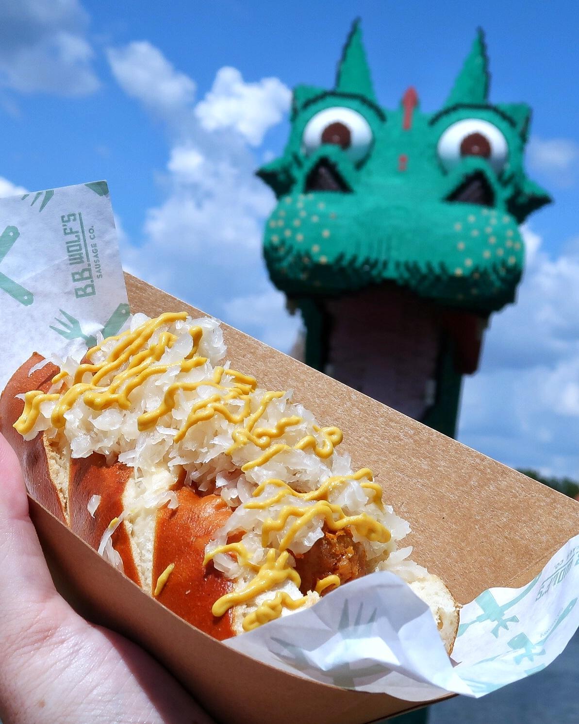 Vegan Bratwurst Sausage at B.B. Wolf's Sausage Co. in Disney Springs at Walt Disney World