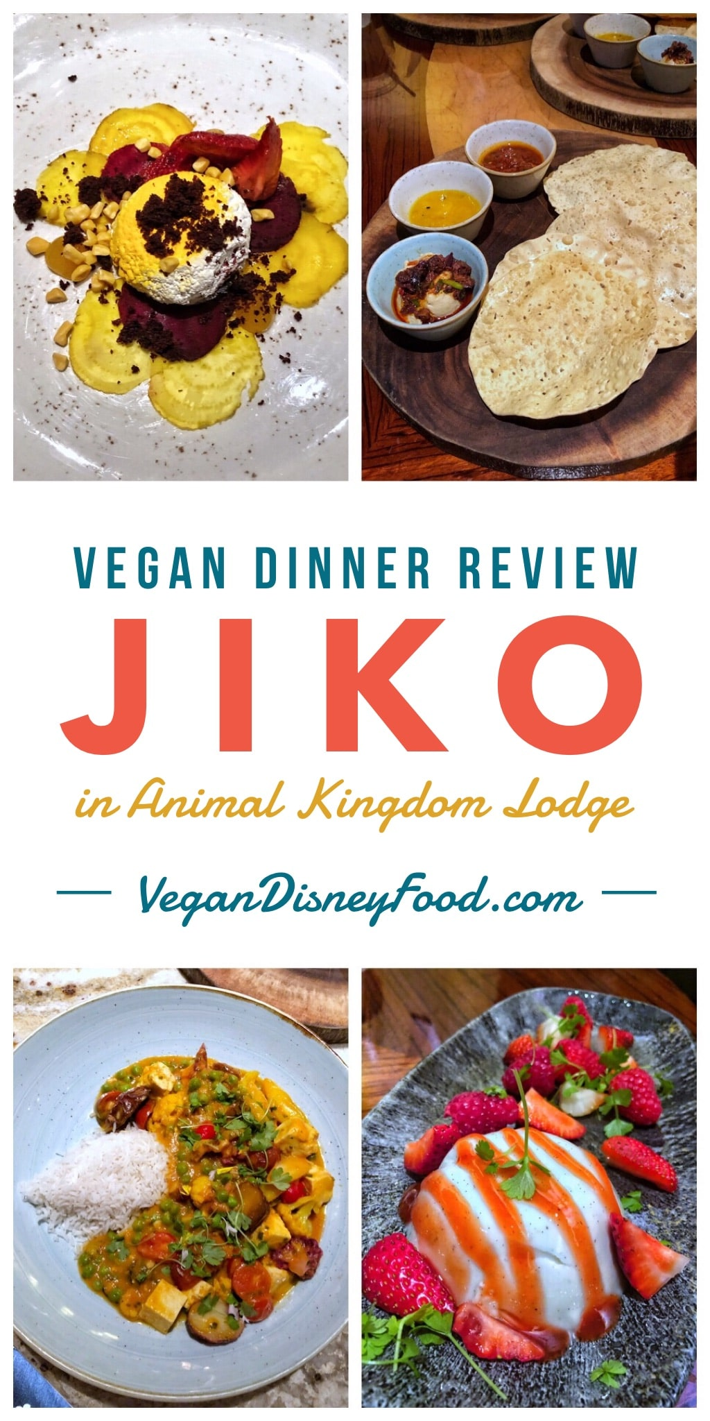 Vegan Dinner Review of Jiko at Animal Kingdom Lodge in Walt Disney World