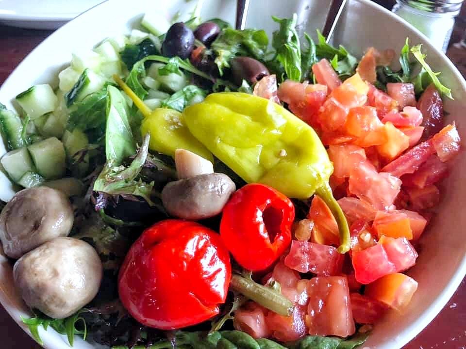 Vegan Mediterranea Salad at Via Napoli in the Italy Pavilion at Epcot in Walt Disney World