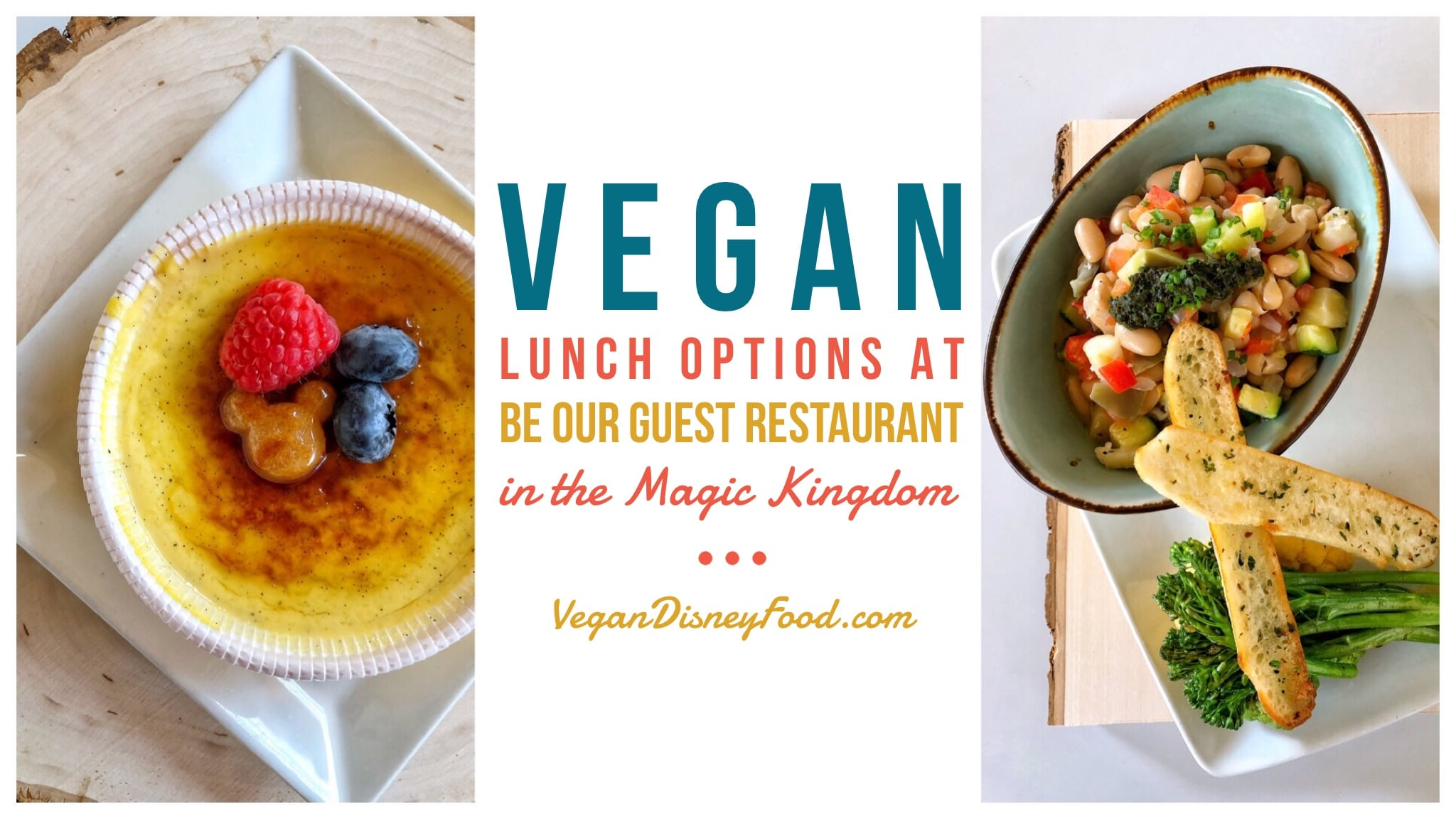 Vegan Lunch Options at Be Our Guest Restaurant in the Magic Kingdom at Walt Disney World