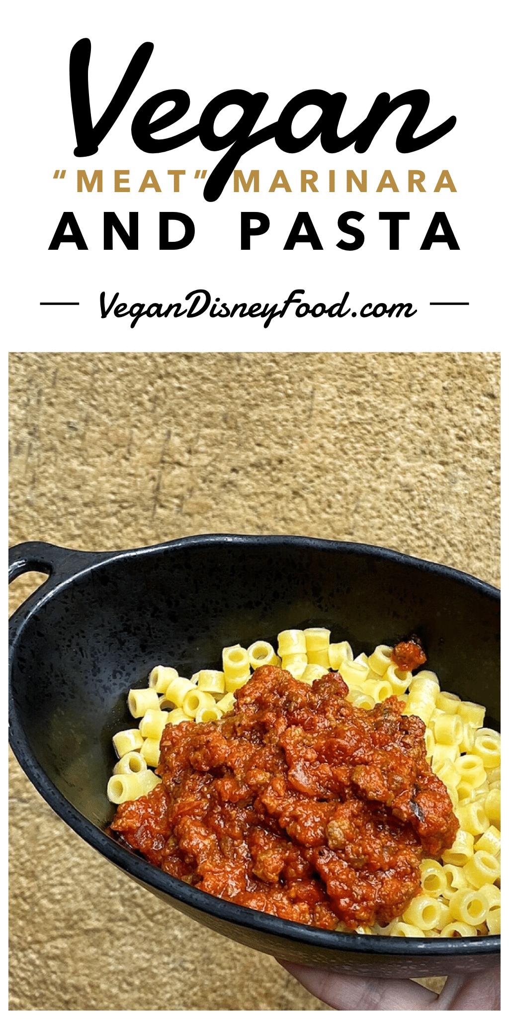 "Vegan ""Meat"" Marinara and Pasta at Docking Bay 7 Food and Cargo in Star Wars Galaxy's Edge"