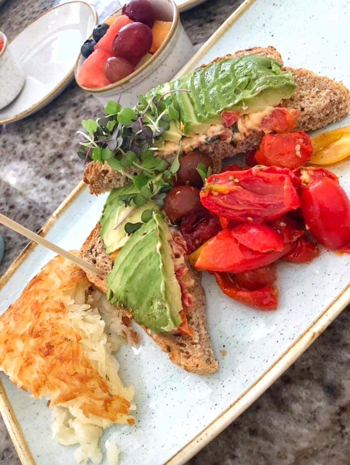 Vegan Avocado Toast at the Grand Floridian Cafe in Walt Disney World