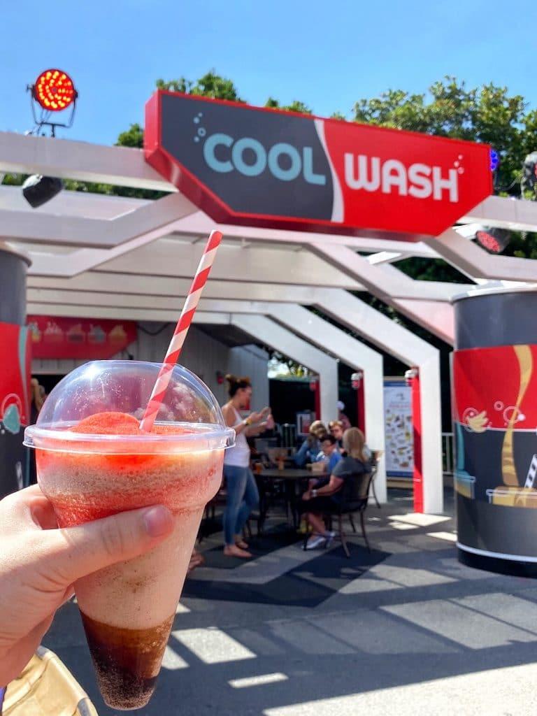 Vegan Layered Slushy at the Epcot International Food and Wine Festival Cool Wash at Walt Disney World