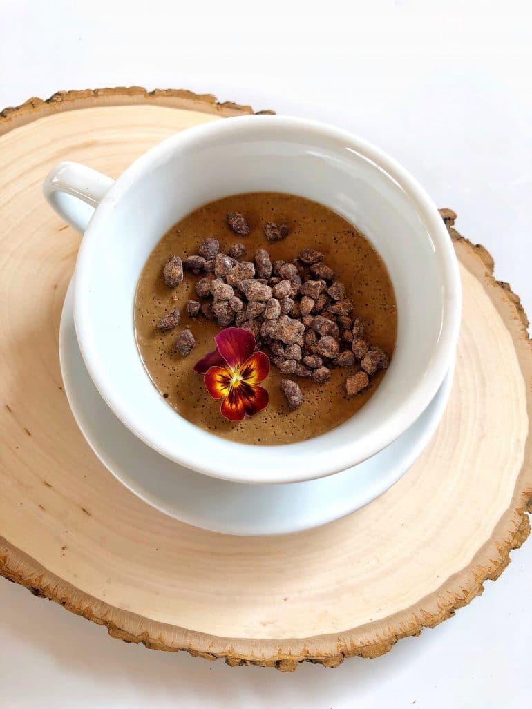 Vegan Coffee Pot de Creme at Cinderella's Royal Table in the Magic Kingdom at Walt Disney World