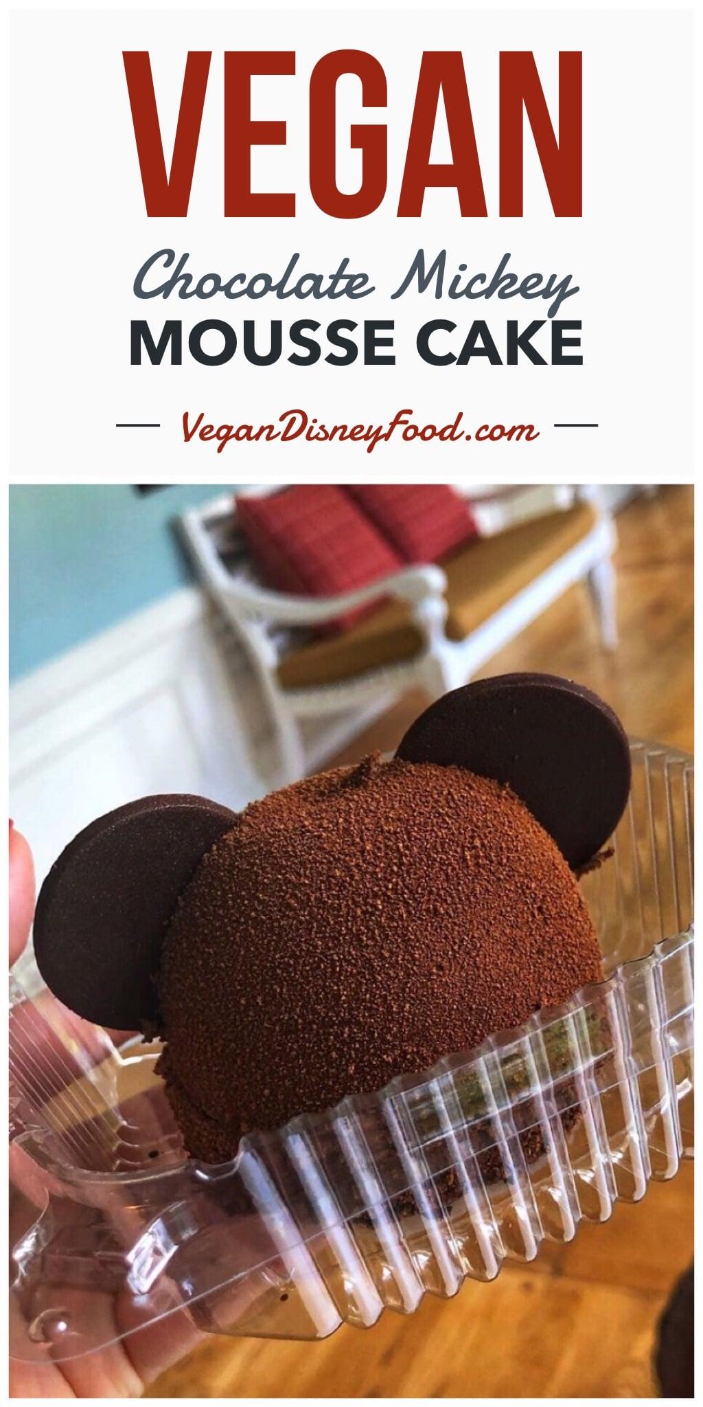 Vegan Chocolate Mickey Mousse Cake at Disney's Beach Club Resort at Walt Disney World