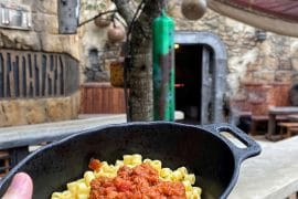 "Vegan ""Meat"" Marinara and Pasta at Docking Bay 7 Food and Cargo in Star Wars Galaxy's Edge"
