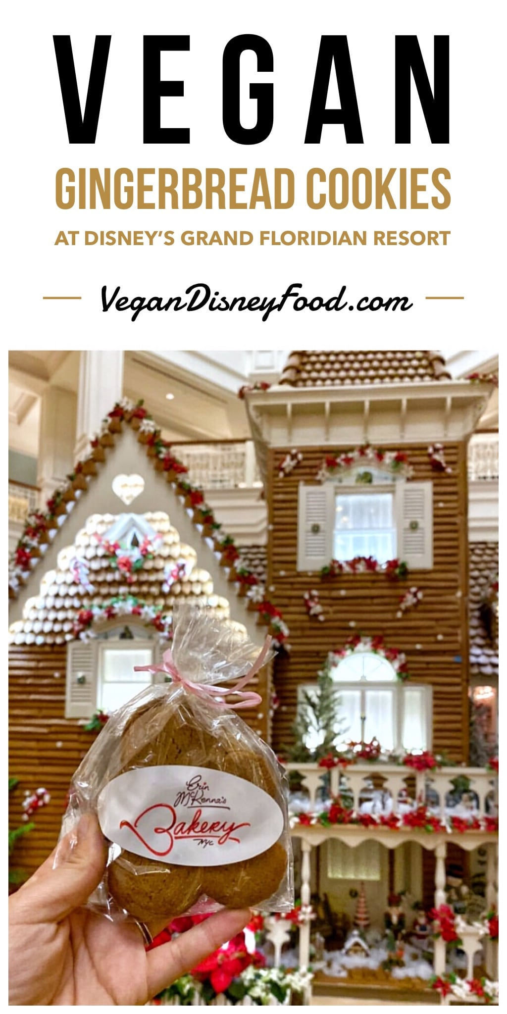 Vegan Christmas Gingerbread Cookies at Disney's Grand Floridian Resort in Walt Disney World