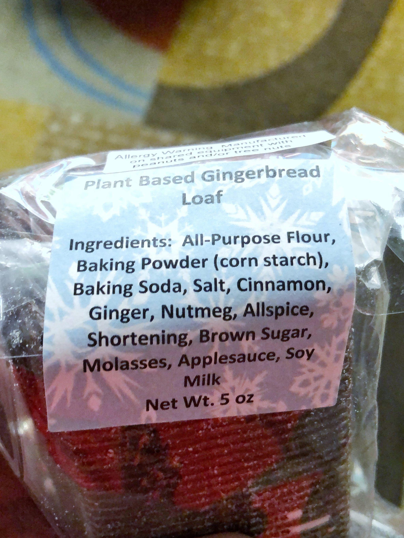 Vegan Gingerbread Loaf at the Contemporary Resort in Walt Disney World