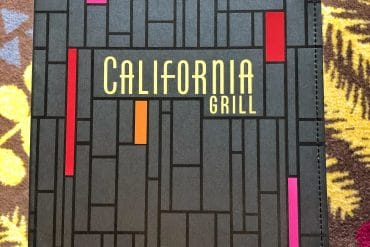 California Grill 2020 Vegan Unplugged Menu at Disney's Contemporary Resort