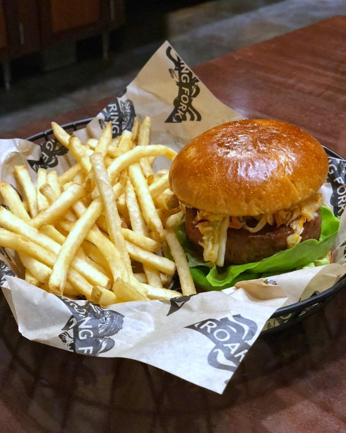 Vegan Zesty Slaw Burger at Roaring Fork in Disney's Wilderness Lodge at Walt Disney World