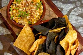 Secret Menu Item Vegan Elote Corn Dip at Three Bridges Bar and Grill at Villa del Lago in Disney's Coronado Springs Resort