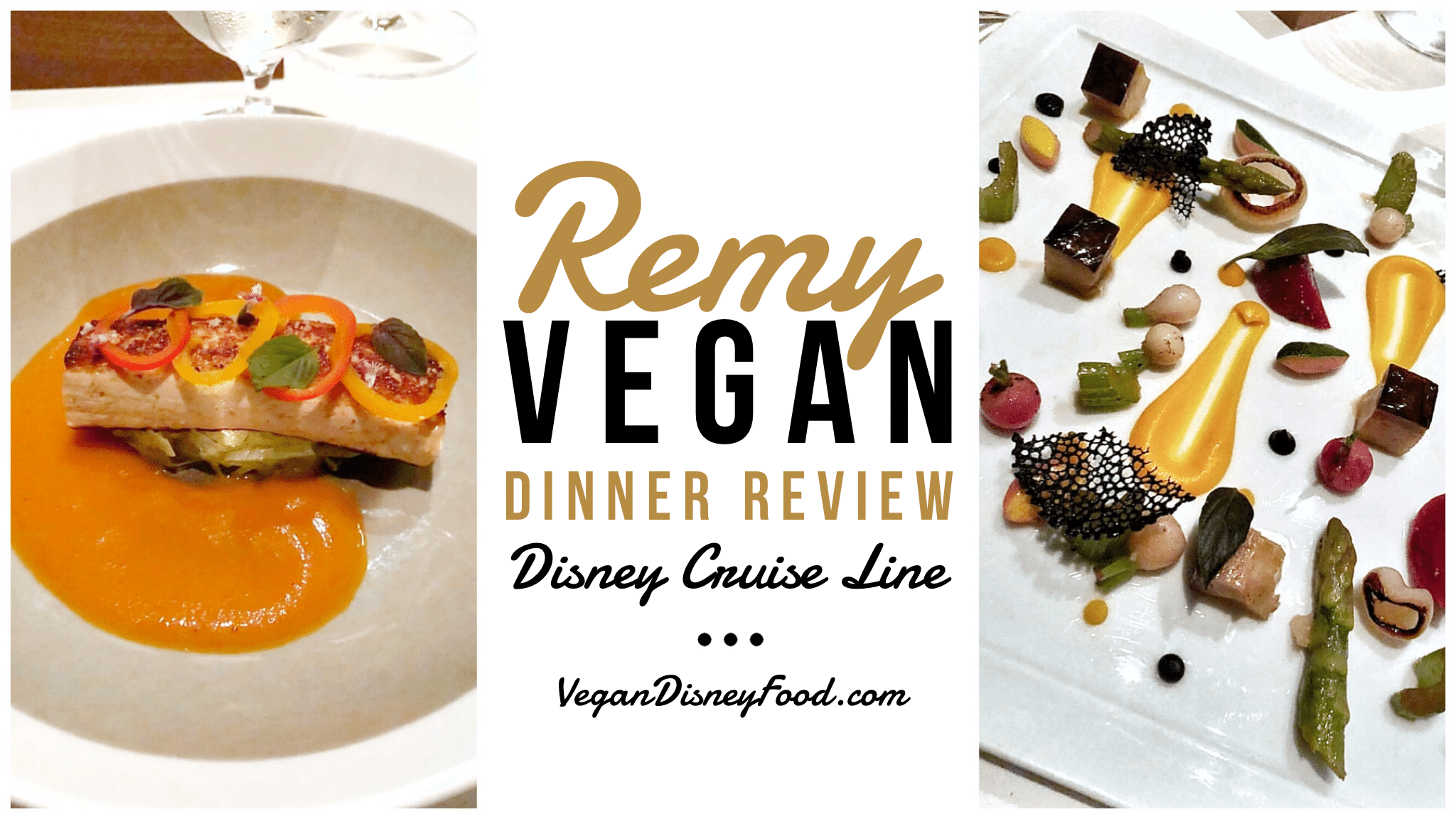 Vegan Dinner Options at Remy on the Disney Dream Cruise Ship