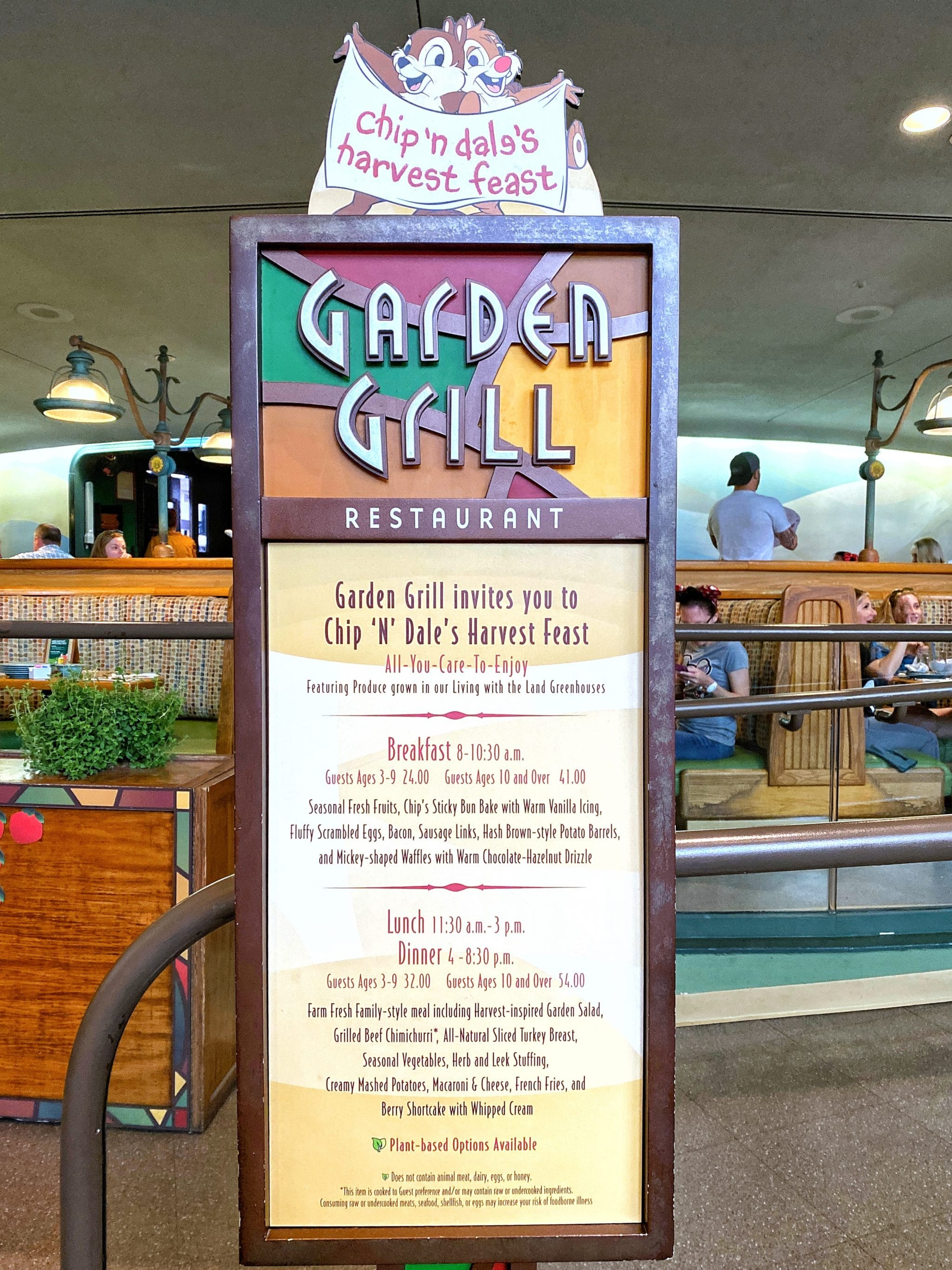 Garden Grill Vegan Character Breakfast Review in Epcot at Walt Disney World