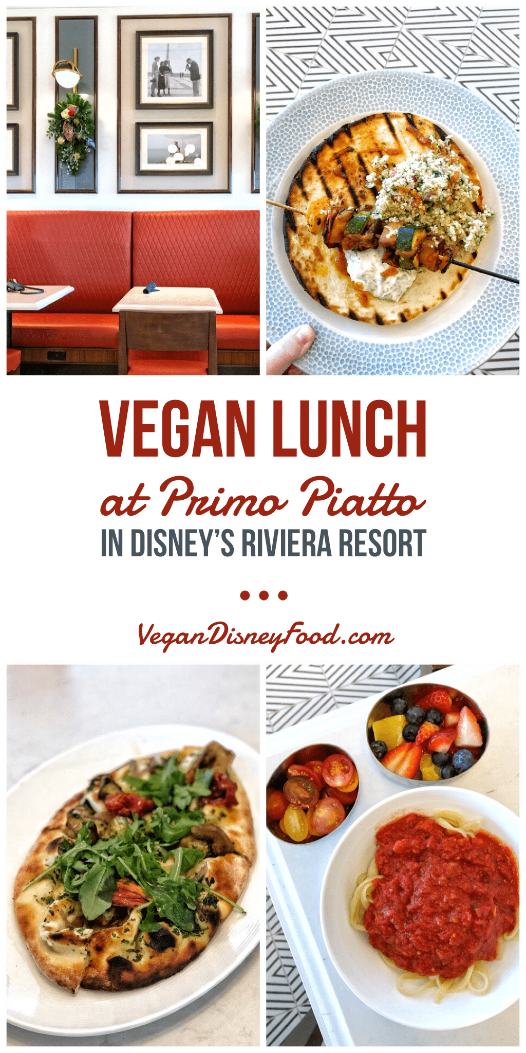 Vegan Lunch at Primo Piatto in Disney's Riviera Resort at Walt Disney World