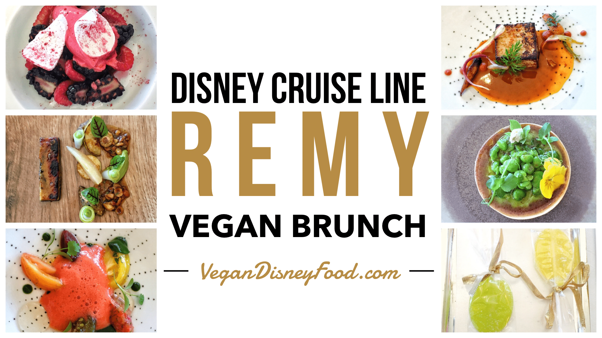 Disney Cruise Line Remy Champagne Brunch Vegan Menu Options