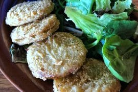 Vegan Fried Green Tomatoes at Crockett's Tavern in Disney's Fort Wilderness Resort and Campground at Walt Disney World
