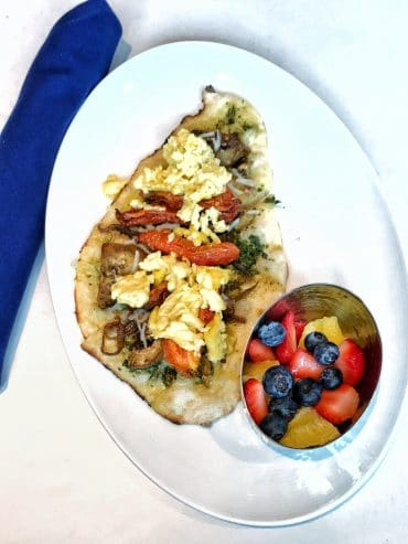 Vegan Breakfast Pizza at Primo Piatto in Disney's Riviera Resort at Walt Disney World