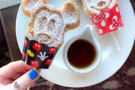 Vegan Mickey Waffle Dippers at Topolino's Terrace in Disney's Riviera Resort at Walt Disney World
