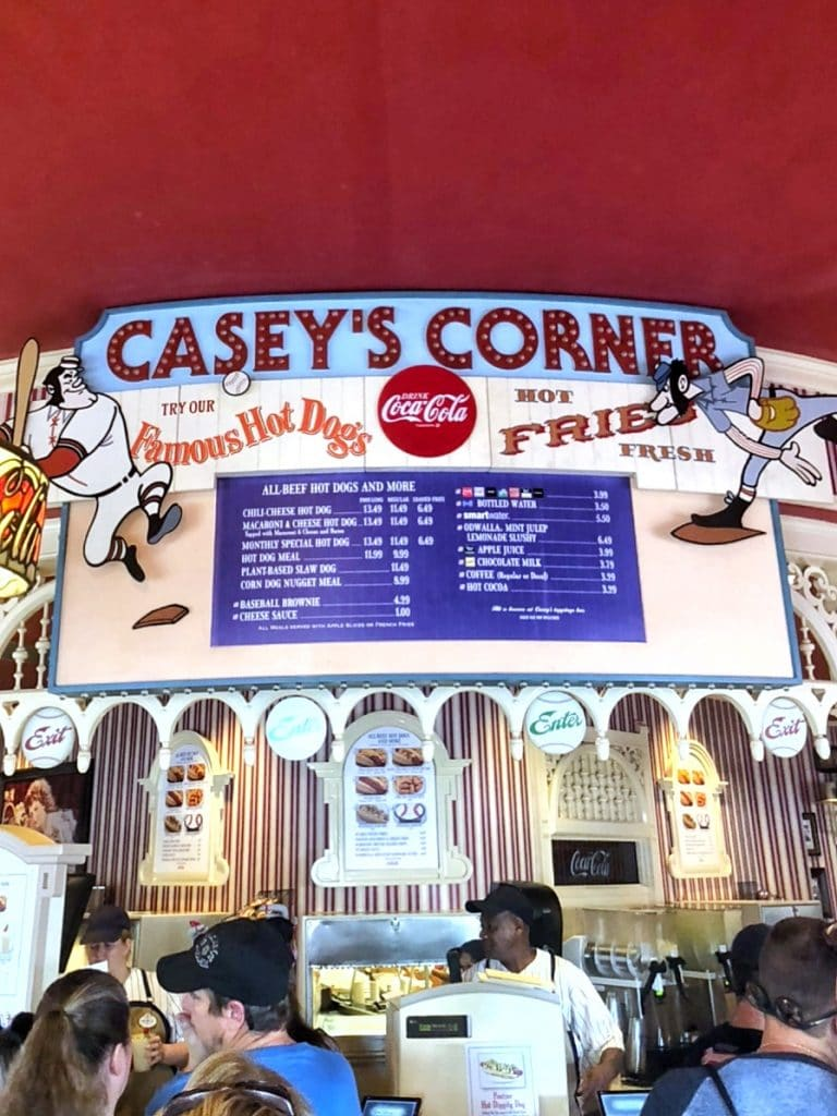 Vegan Loaded Slaw Dog from Casey's Corner in the Magic Kingdom at Walt Disney World