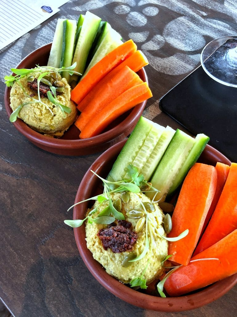 Vegan Hummus at Three Bridges Bar and Grill at Coronado Springs Resort in Walt Disney World