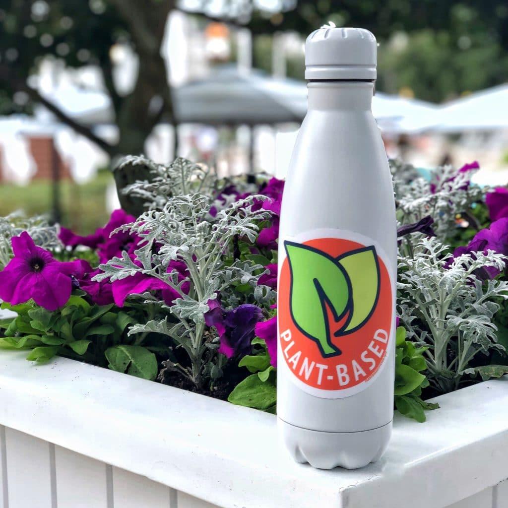 Vegan Disney Food Plant Based Leaf Symbol Decal Sticker