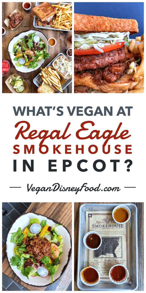 What's Vegan at the the Regal Eagle Smokehouse in America at Epcot in Walt Disney World