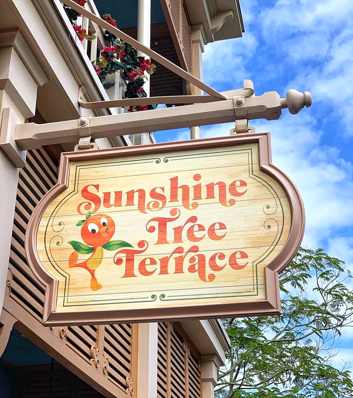 Vegan FOMOsa Orange Dole Whip at Sunshine Tree Terrace in the Magic Kingdom at Walt Disney World