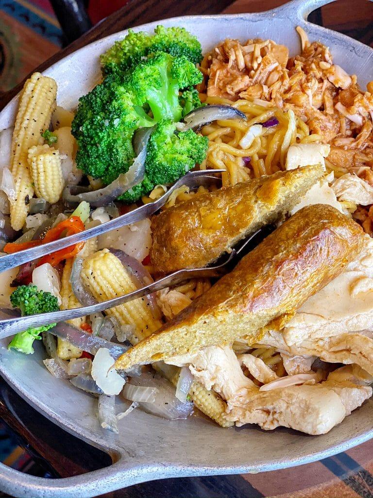 Vegan Dinner Review of Ohana in Disney's Polynesian Village Resort