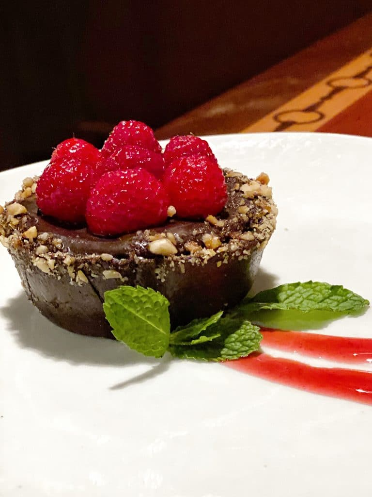 The Turf Club Bar and Grill Vegan Chocolate Fruit Tart at Disney's Saratoga Springs