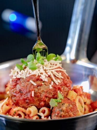 NEW Pym Test Kitchen Vegan Meatballs at Avengers Campus in Disney California Adventure at the Disneyland Resort