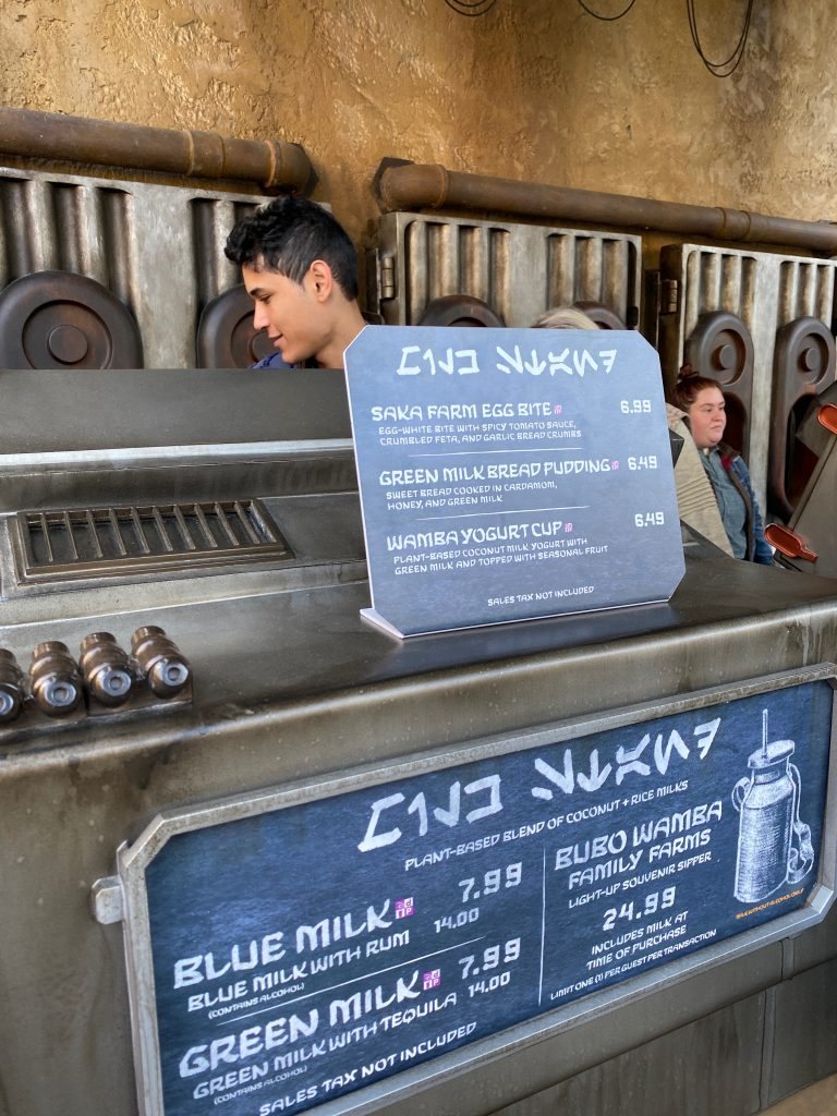 Vegan Breakfast Options at the Milk Stand in Star Wars Galaxy's Edge