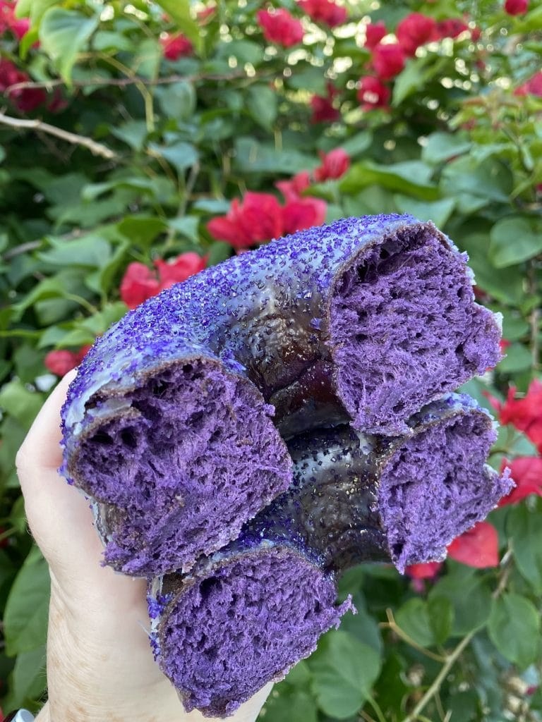 Everglazed Purple Ube Vegan Donut