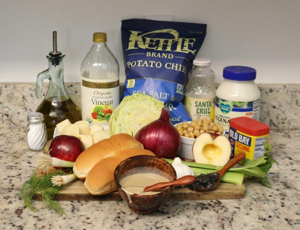 Vegan Lobster Roll ingredients