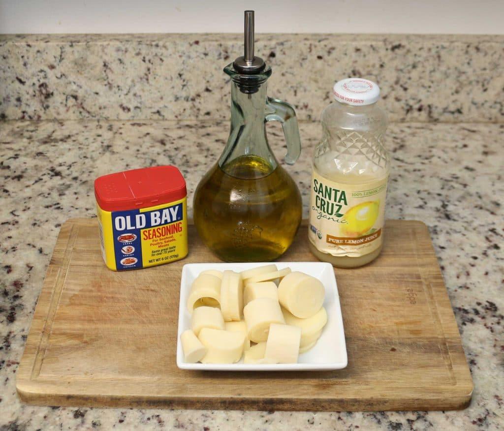 Vegan Lobster Roll marinade ingredients